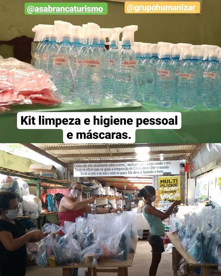 Kit de limpeza e higiene pessoal