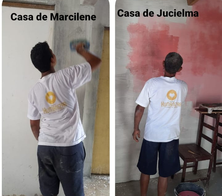 Pintando as Novas Casas